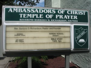 current church sign