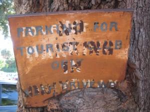 Tourist Club Parking Plaque